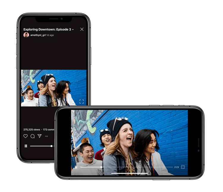 Landscape Videos, Now in IGTV (via Instagram Press)