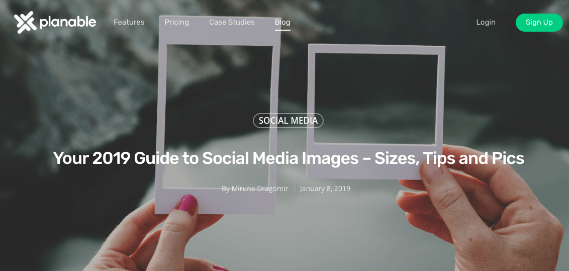social media guide sizes
