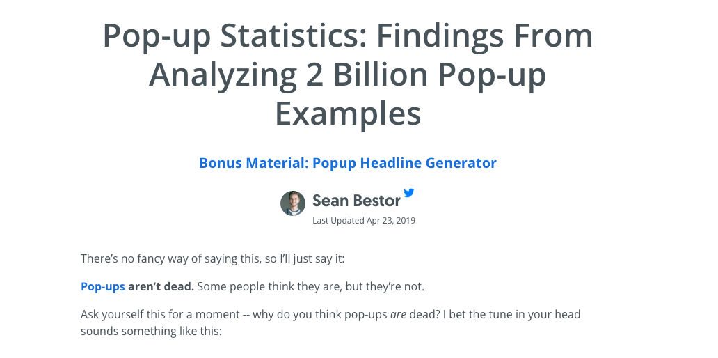 popup examples