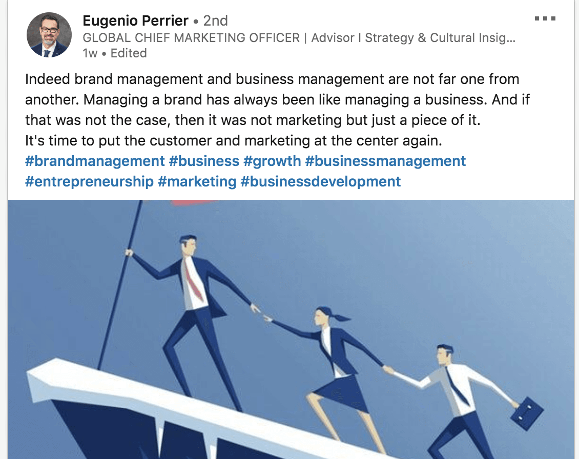 brand management definition eugenio perrier linkedin post