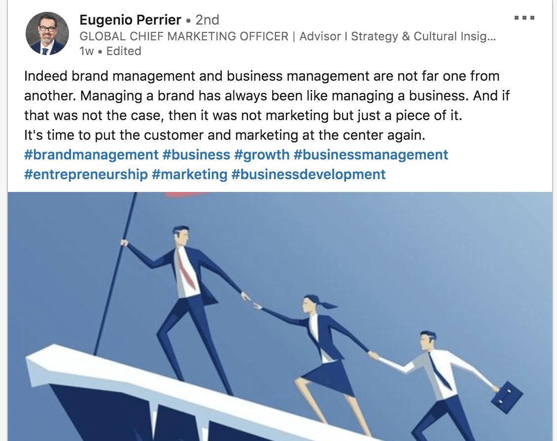 brand management definition eugenio perrier linkedin post