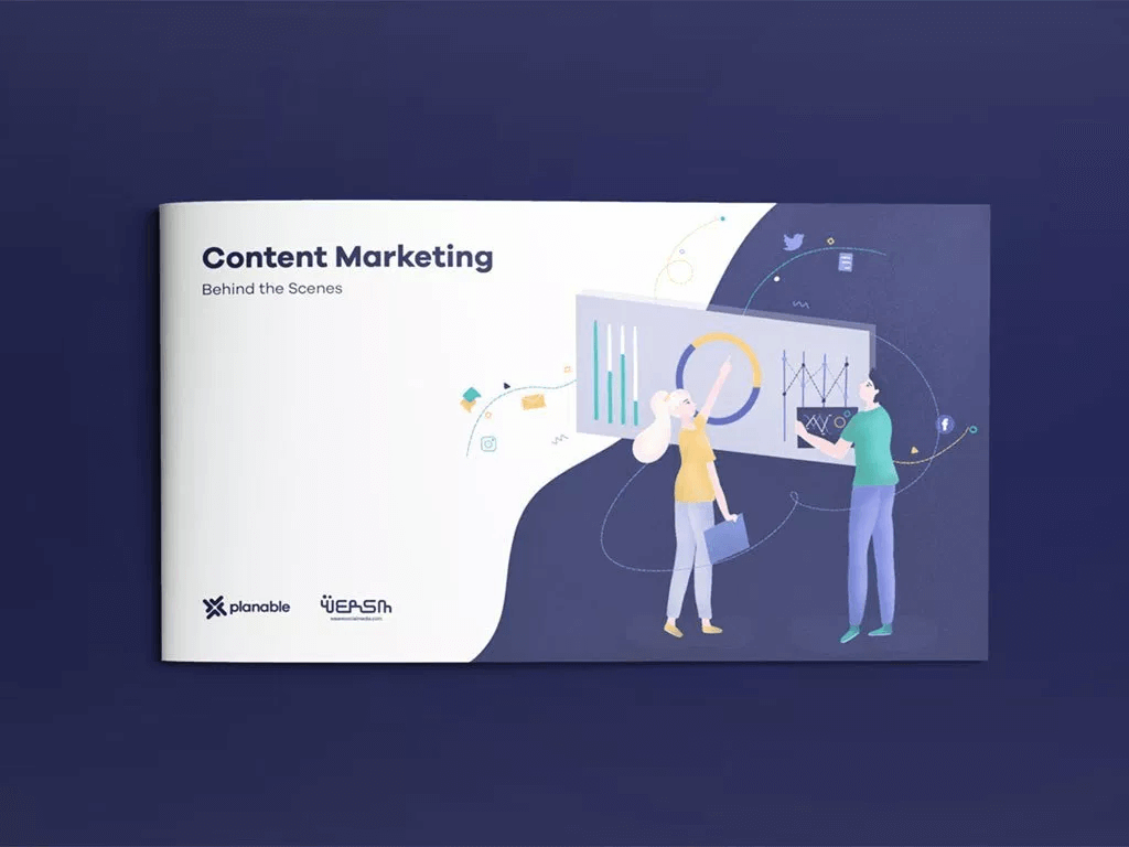 content marketing industry report collaboration made by planable and wersm