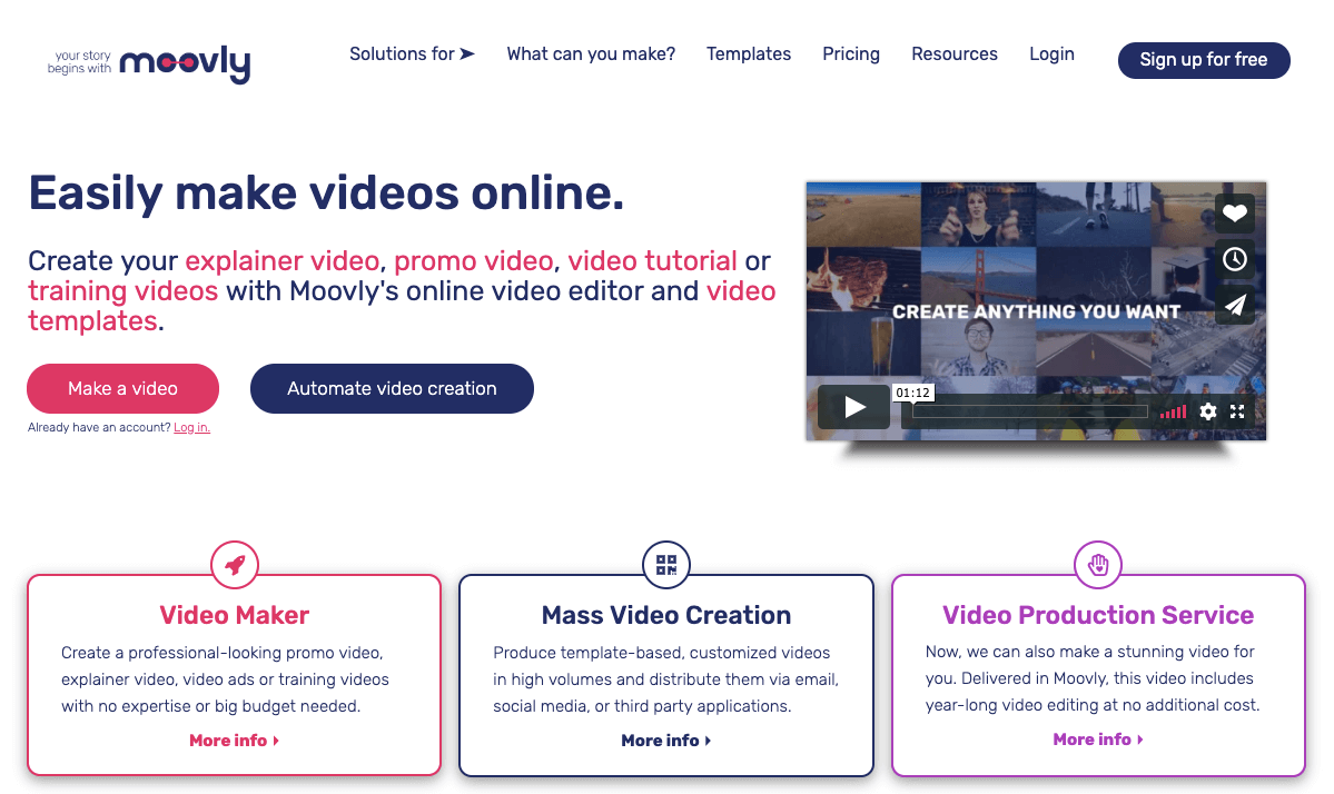 video applications for social media videos