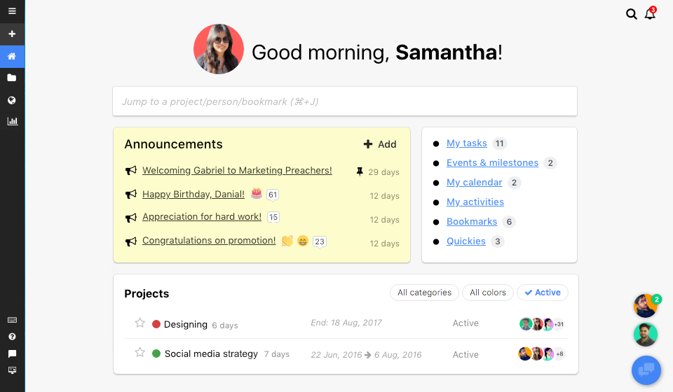 Proofhub productivity tool screenshot