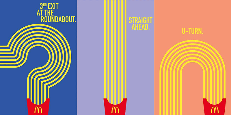 McDonald's latest ad campaign with fries