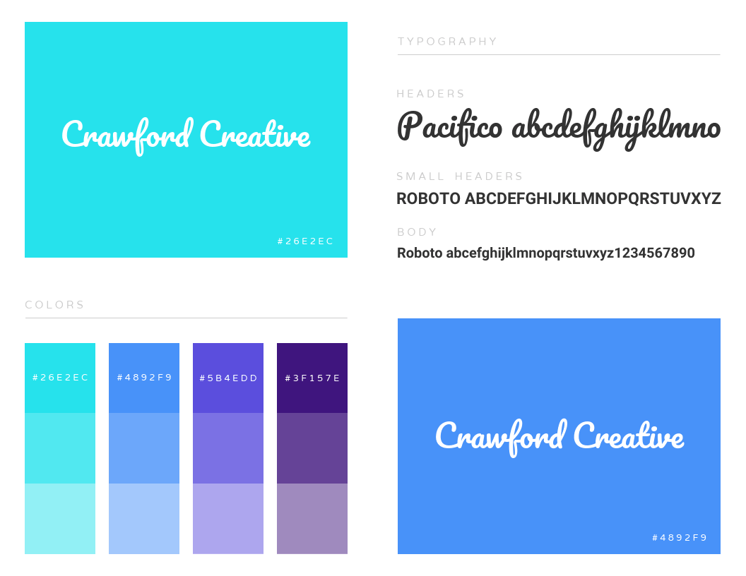 fonts examples of a brad