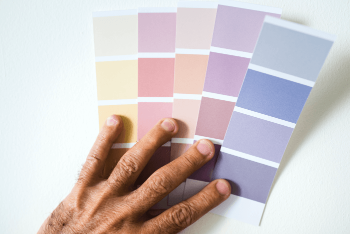 brand guide - building and choosing fonts or colors from a palette