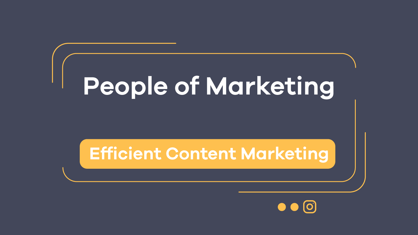 efficient content marketing - episode 9 at people of marketing