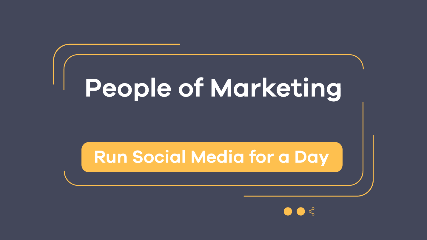 people of marketing - run social media for a day episode 6