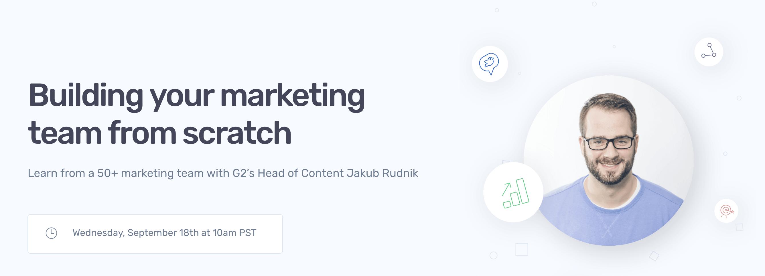 people of marketing webinar with Jakub Rudnik by planable