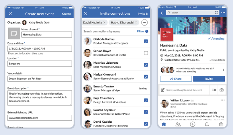 LinkedIn events october social media news