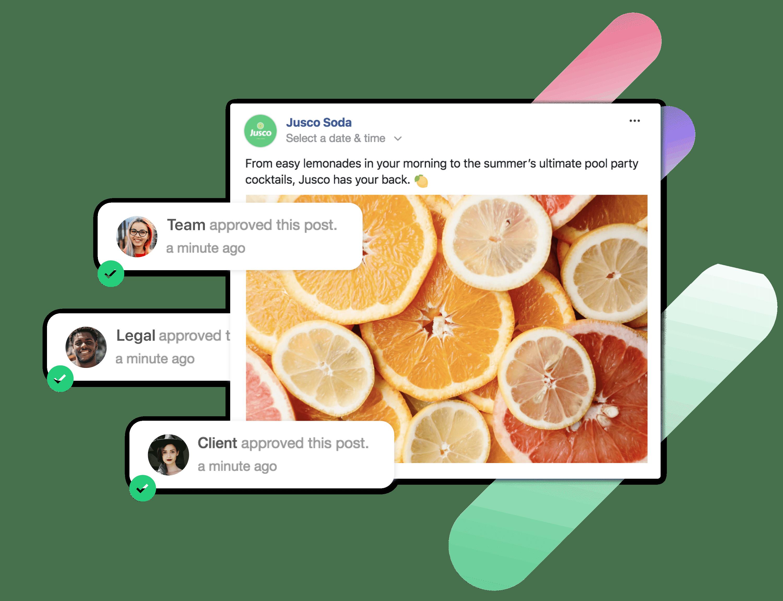 social media marketing approval