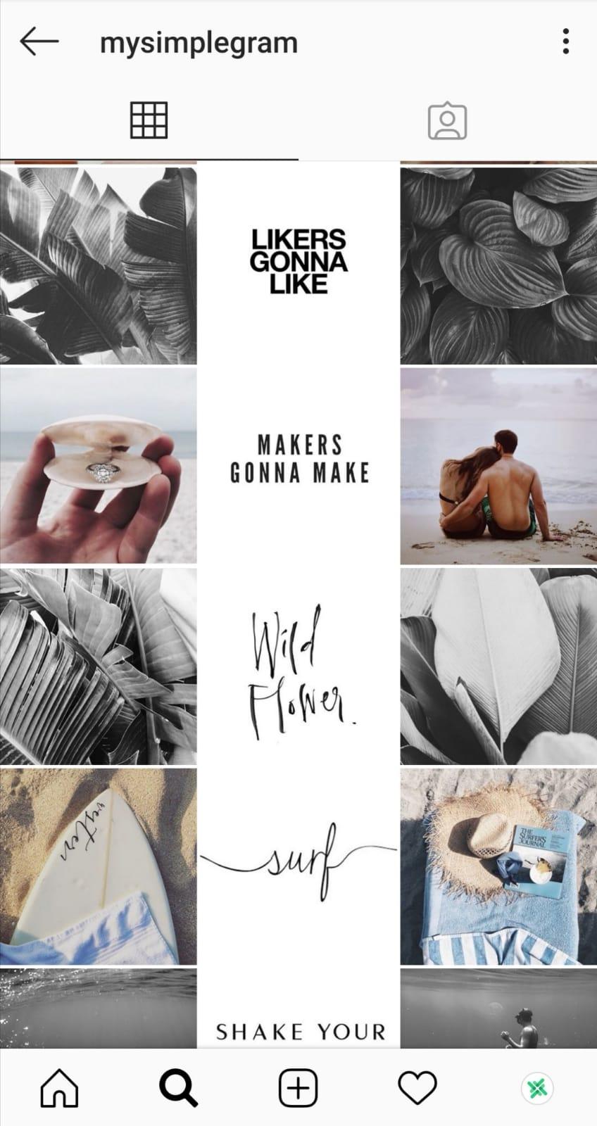 instagram grid post