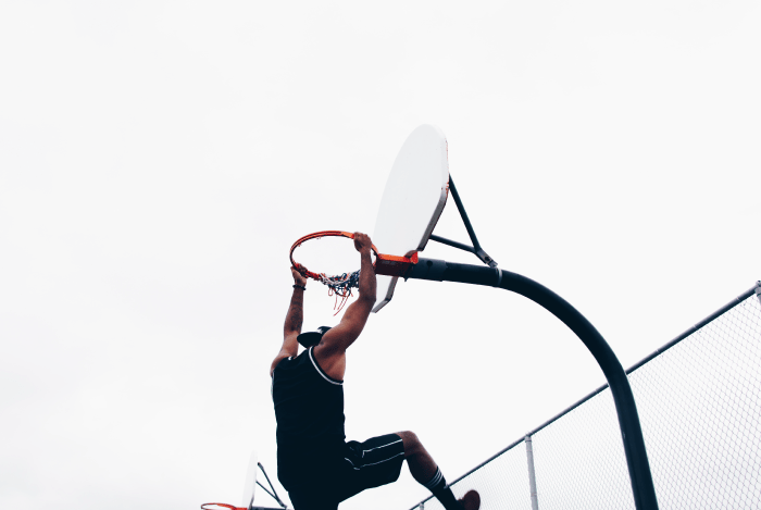 sports marketing basketball player scoring goal